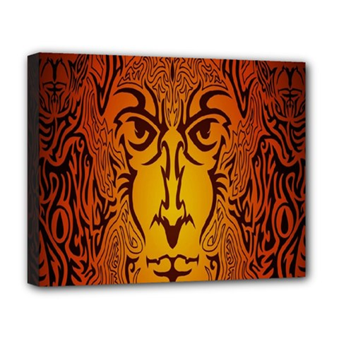 Lion Man Tribal Deluxe Canvas 20  X 16