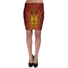 Lion Man Tribal Bodycon Skirt
