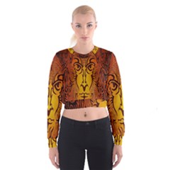 Lion Man Tribal Cropped Sweatshirt