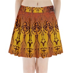 Lion Man Tribal Pleated Mini Skirt