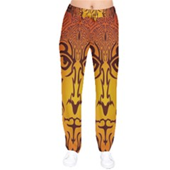 Lion Man Tribal Drawstring Pants