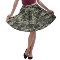 Us Army Digital Camouflage Pattern A-line Skater Skirt
