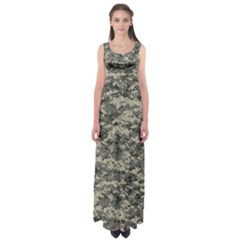 Us Army Digital Camouflage Pattern Empire Waist Maxi Dress