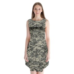 Us Army Digital Camouflage Pattern Sleeveless Chiffon Dress