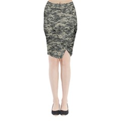 Us Army Digital Camouflage Pattern Midi Wrap Pencil Skirt