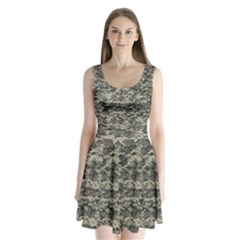 Us Army Digital Camouflage Pattern Split Back Mini Dress