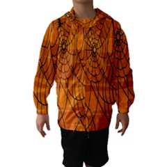Vector Seamless Pattern With Spider Web On Orange Hooded Wind Breaker (Kids)