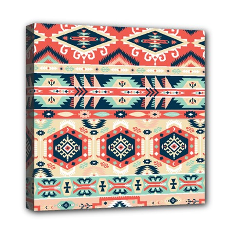 Aztec Pattern Copy Mini Canvas 8  X 8