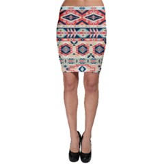 Aztec Pattern Copy Bodycon Skirt