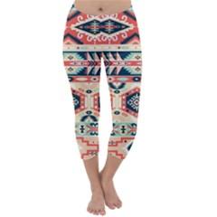 Aztec Pattern Copy Capri Winter Leggings