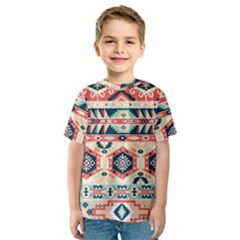 Aztec Pattern Copy Kids  Sport Mesh Tee