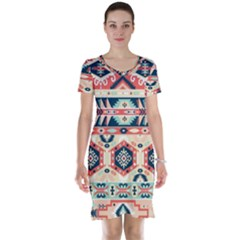 Aztec Pattern Copy Short Sleeve Nightdress