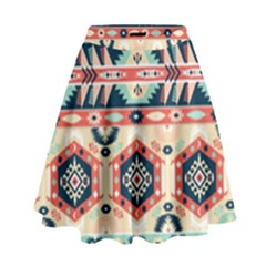 Aztec Pattern Copy High Waist Skirt