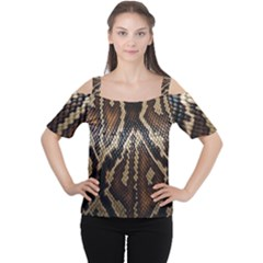 Snake Skin O Lay Women s Cutout Shoulder Tee