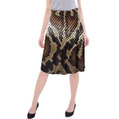 Snake Skin O Lay Midi Beach Skirt