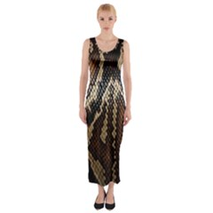 Snake Skin O Lay Fitted Maxi Dress