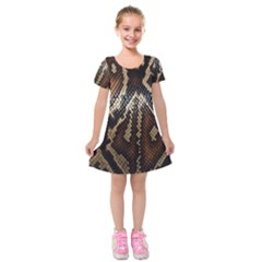 Snake Skin O Lay Kids  Short Sleeve Velvet Dress