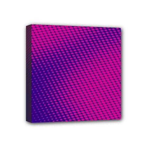 Purple Pink Dots Mini Canvas 4  x 4