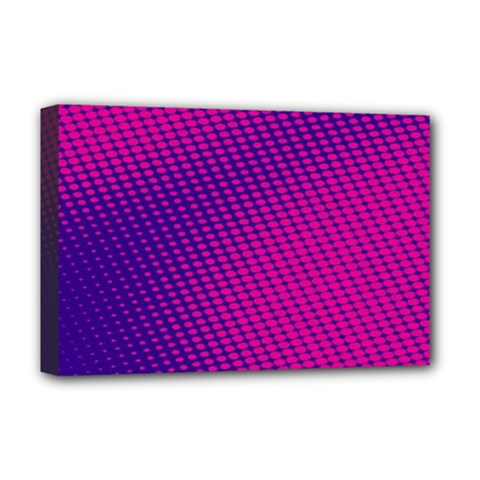 Purple Pink Dots Deluxe Canvas 18  x 12