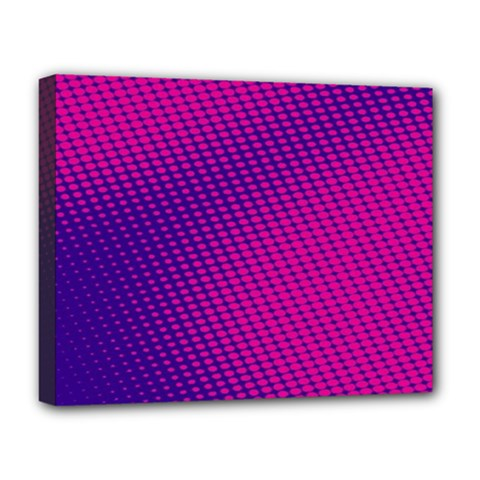 Purple Pink Dots Deluxe Canvas 20  X 16
