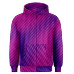 Purple Pink Dots Men s Zipper Hoodie