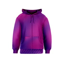 Purple Pink Dots Kids  Zipper Hoodie