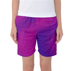 Purple Pink Dots Women s Basketball Shorts