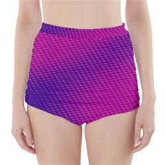 Purple Pink Dots High Waisted Bikini Bottoms