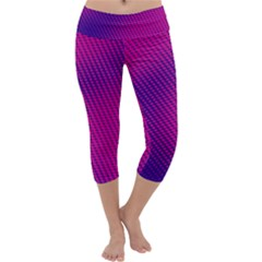 Purple Pink Dots Capri Yoga Leggings