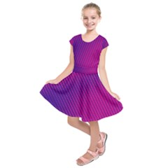 Purple Pink Dots Kids  Short Sleeve Dress