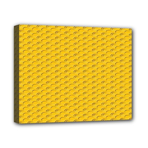 Yellow Dots Pattern Canvas 10  X 8