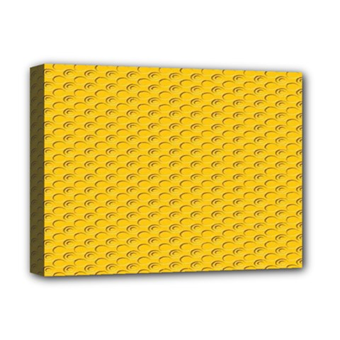 Yellow Dots Pattern Deluxe Canvas 16  x 12