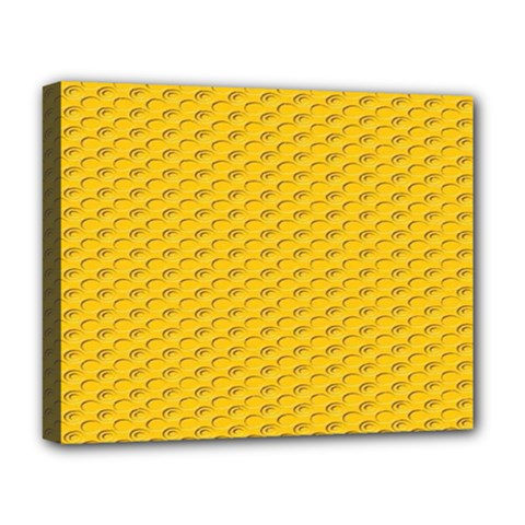 Yellow Dots Pattern Deluxe Canvas 20  X 16