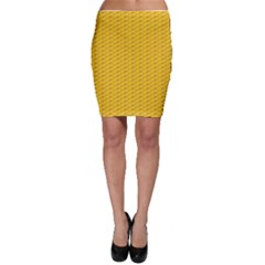 Yellow Dots Pattern Bodycon Skirt