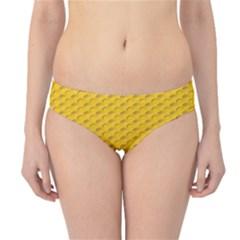 Yellow Dots Pattern Hipster Bikini Bottoms