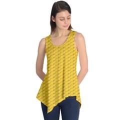 Yellow Dots Pattern Sleeveless Tunic