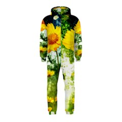 Yellow Flowers Hooded Jumpsuit (kids)