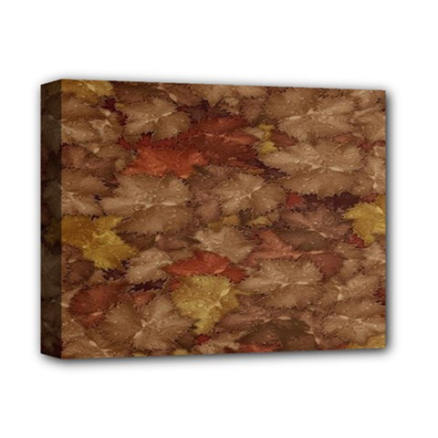 Brown Texture Deluxe Canvas 14  x 11