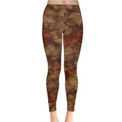 Brown Texture Leggings