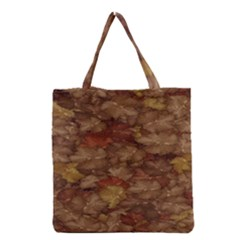 Brown Texture Grocery Tote Bag