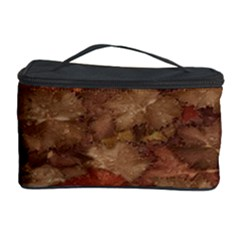 Brown Texture Cosmetic Storage Case