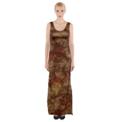 Brown Texture Maxi Thigh Split Dress