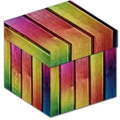 Colourful Wood Painting Storage Stool 12