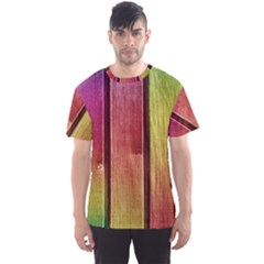 Colourful Wood Painting Men s Sports Mesh Tee