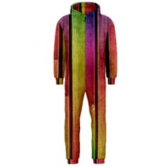 Colourful Wood Painting Hooded Jumpsuit (men)