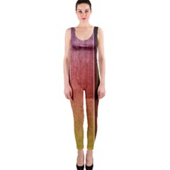 Colourful Wood Painting Onepiece Catsuit