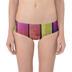 Colourful Wood Painting Classic Bikini Bottoms