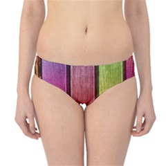 Colourful Wood Painting Hipster Bikini Bottoms