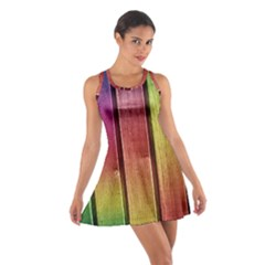 Colourful Wood Painting Cotton Racerback Dress