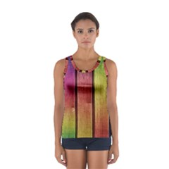 Colourful Wood Painting Women s Sport Tank Top